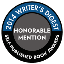 Writer's Digest Honorable Mention 1 inch